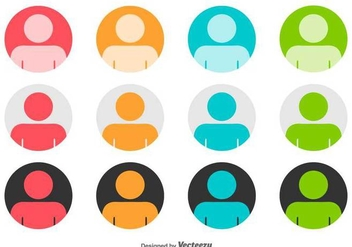 Headshot Rounded Vector Icons - vector gratuit #423883