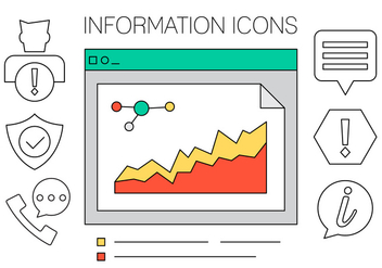 Information Icons Set in Vector - vector #423983 gratis