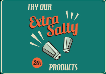 Retro Salty Food Sign - vector gratuit #424073