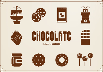 Chocolate Silhouette Vector Icons - Free vector #424083