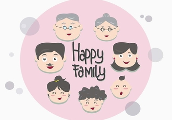Familia Face Vectors - бесплатный vector #424093
