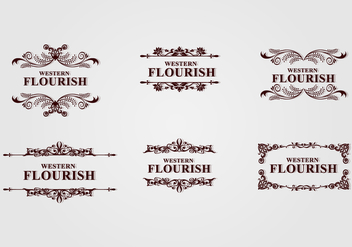 Brown Western Flourish - Free vector #424103