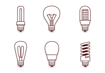 Electricity Lamp Icon Set - Kostenloses vector #424133