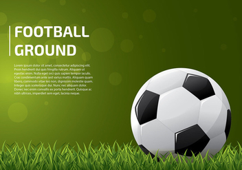 Football Ground Template Vector - vector gratuit #424203