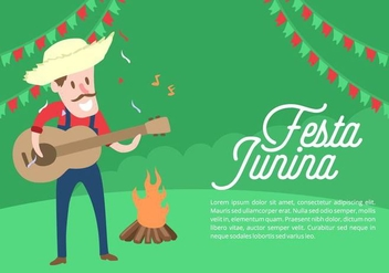 Festa Junina Background - vector gratuit #424243