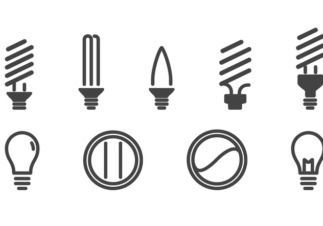 Light Bulbs Icons Set - Kostenloses vector #424293