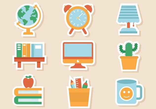 Free Study and Room Icons Vector - vector #424303 gratis