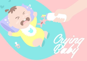 Crying Baby Background - vector gratuit #424363