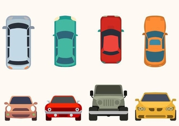 Flat Car Vector Collection - Free vector #424383