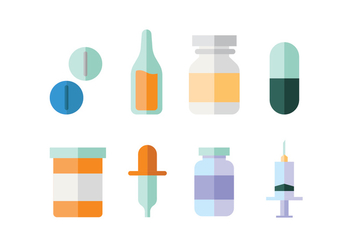 Medical supplies flat design - vector gratuit #424403