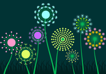 Free Colorful Blowball Vector - бесплатный vector #424573