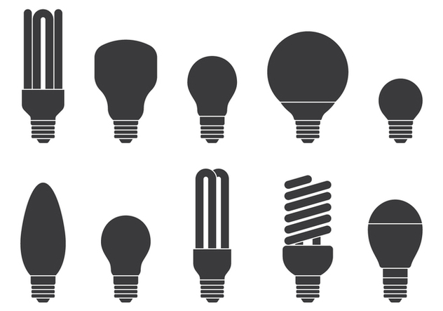 Light Bulb Icons Set - Kostenloses vector #424623