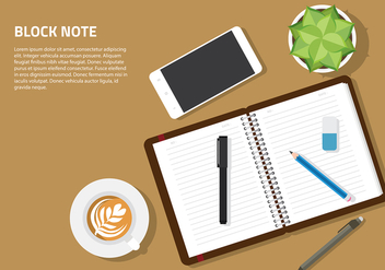 Block Note Mockup Set Vector - vector gratuit #424643