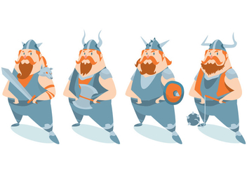 Viking Character Vector Set - Kostenloses vector #424713