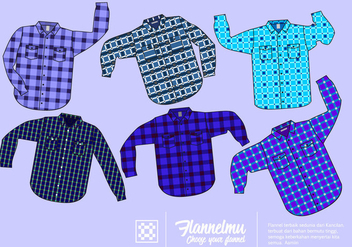 Blue Shirt Flannel Free Vector - Free vector #424753