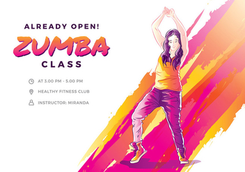 Zumba Illustration Free Vector - бесплатный vector #424763