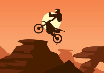 Bike Trail Jump Free Vector - Free vector #424783