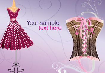 Retro Corset Background - vector #424833 gratis