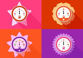 Girly Racing Fuel Gauges - бесплатный vector #424873