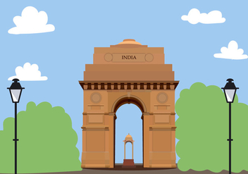 India Gate Free Vector - vector gratuit #424903