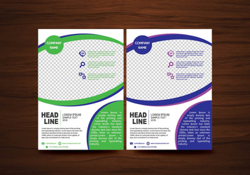 Vector Brochure Flyer design Layout template in A4 size - vector #424923 gratis