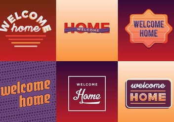 Free Welcome Home Vector Pack - бесплатный vector #424933