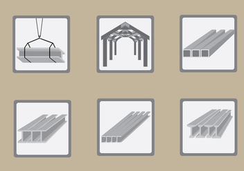 Steel Beam Construction Illustration Vector - Free vector #425003