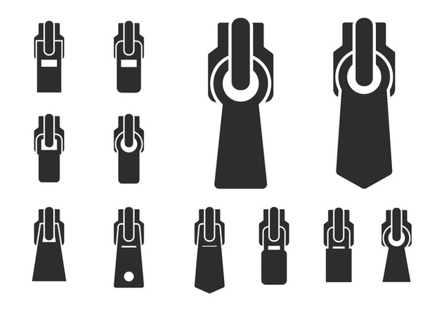 Set Of Different Zippers - Kostenloses vector #425023