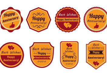 Happy Anniversary Stamp Vector - vector #425063 gratis