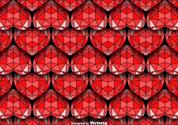 Geometric Hearts Seamless Vector Pattern - Free vector #425093