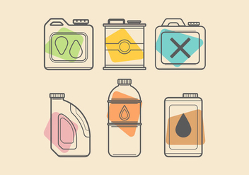 Colorful Oil Can Vectors - Free vector #425113