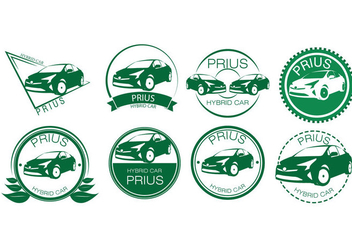 Free Hybrid Car Badges Vector - Free vector #425173