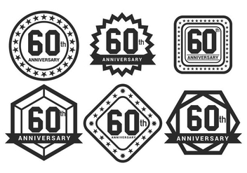 60th vector - Free vector #425243
