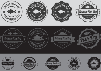 Fish Fry Badge - vector gratuit #425293