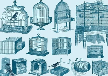 Bird Cages And Nests - vector gratuit #425303