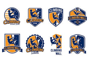 Climbing Wall Badge Vector - Free vector #425333