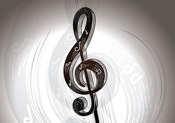 Free Musical Notation Key Vector Illustration - Free vector #425343