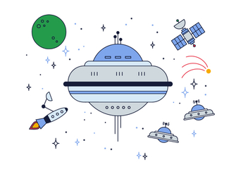 Free Space Ships Vector - vector gratuit #425363