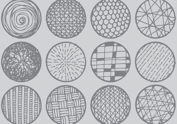 Crosshatch-Circles - vector gratuit #425393