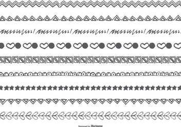 Hand Drawn Doodle Borders - Free vector #425403