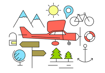 Free Travel Icons - vector #425423 gratis
