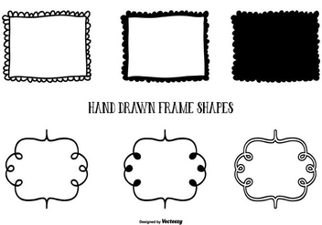 Cute Hand Drawn Style Frame Shapes - vector gratuit #425433