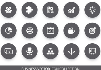 Business Vector Icon Collection - vector gratuit #425443