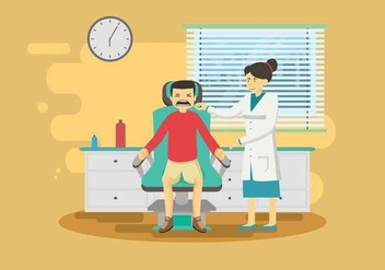 Free Painfull Dentista Illustration - Kostenloses vector #425463