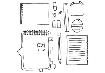Doodled Notes - vector gratuit #425483