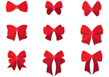 Set of Flat Hair Ribbons - Kostenloses vector #425643