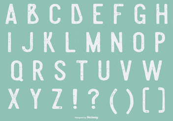 Retro Grunge Alphabet Collection - Free vector #425653