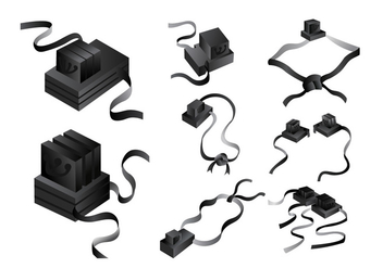 Black Leather Tefillin Vector - бесплатный vector #425693