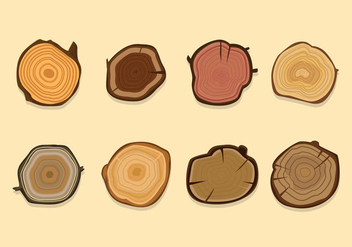 Cut and Sliced Wood Logs Vector - vector gratuit #425723