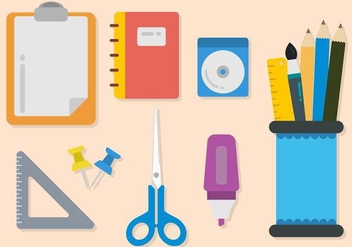 Flat Stationary Vectors - vector gratuit #425803